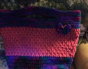 Hand made crocheted bag
