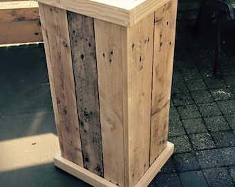 Hand Made Kitchen Bin (Recycled Pallets)