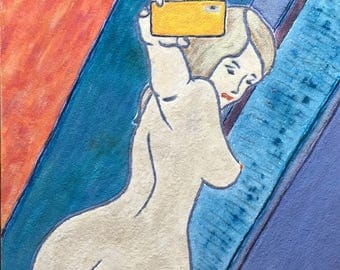 Painting,Nude,Selfie,Abstract, Colorful,Acrylic,Oil,WallArt,Body,B.B.Soyland