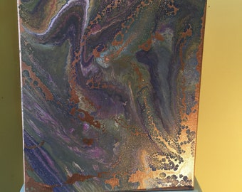 Metallic medley (acrylic painting) 40cm x 30cm/15 x 12 inches approximately