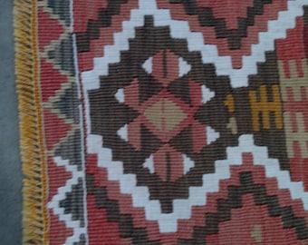 """Handmade kilim rug,115x77cm 45""""x30"""",Turkish kilim rug,Anatolian kilim rug,vintage kilim rug,tribal kilim rug, Handmade kilim rug"""
