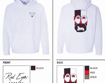 White Red Eyes Hoodie