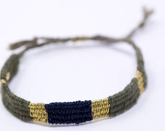 Bracelet Navy Blue and green