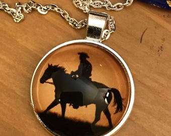 Cowboy on Horse Pendant