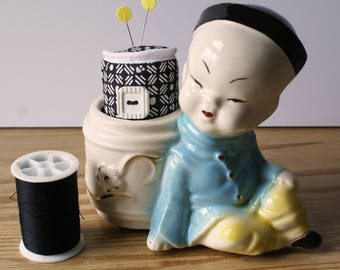 Asian Boy Pincushion (Mid-Century)