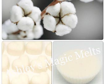3 clean cotton scented soy wax melts, strong long lasting melts, clean scented wax, cheap wax melts, fresh fragranced wax melts, wholesale