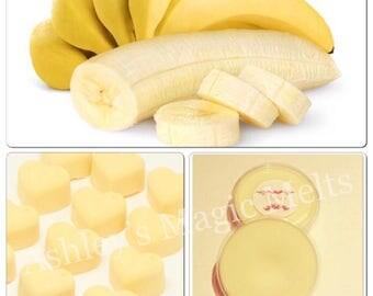 3 banana wax melts, soy wax melts, scented wax cubes, cheap wax melts, fruity wax melts, strong wax melts, highly scented wax melts, tarts