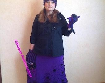 "Knitted skirt ""Purple Evening"""