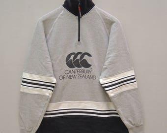 Vintage Canterbury of New Zealand Big Logo Pull Over Rugby Sweatshirt
