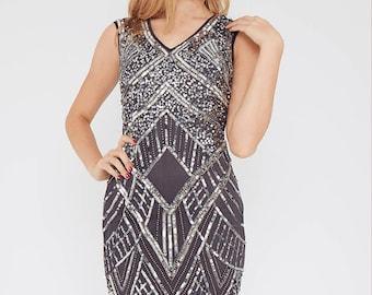 Sequin Grey Dress