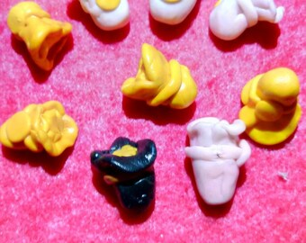 Talismans bundle of Fortune in Fimo
