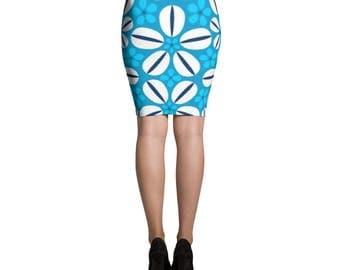 Sea Shell Pencil Skirt