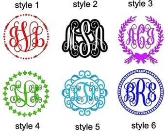 SALE! monogram decal for cups, yeti decal, glass decal, decal, phone decal, laptop decal, iPad decal, custom decal, car decal
