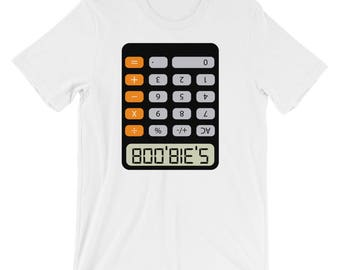 Retro Calculator Themed Short-Sleeve Unisex T-Shirt