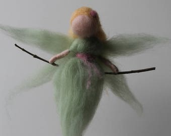 "Little fairy, girl, child, ""Lee Maner"" woolen Waldorf Steiner"