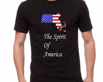 Spirit of America( Massachusetts) Shirt