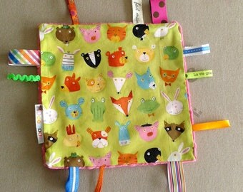 Blanket 2 farm animals tags