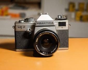 Vintage Praktica LB2 35mm Manual Film Camera With 35mm f/2.8 Lens Kit