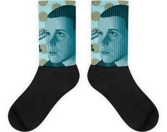Eleven Eggo Socks | Stranger Things Store | Stranger Things Shirts, Mugs, Leggings & More