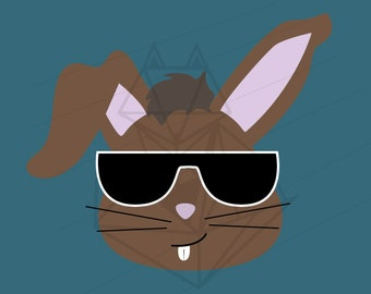Cool Easter Bunny SVG DXF