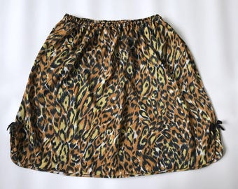 Vintage Leopard Print Slip Union-Made Jr M