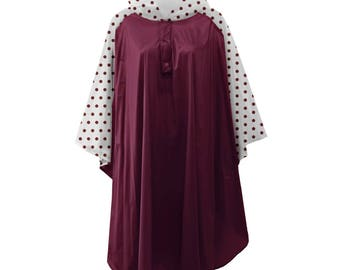 Burgundy Poncho! Monogramming Available! Great for rainy game days!!!