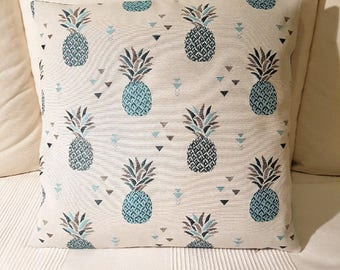 Blue Green pineapple pillow cover / cushion cover blue green pineapple