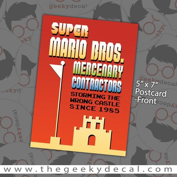 Overstock Sale Super Mario Postcard Print 5x7