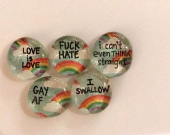 Gay Pride Magnet Set