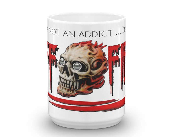 Caffeine Fiend Mug, Caff-Fiend Cup, Coffee Crazy Mug, More than an Addict, Coffee Fiend, Great Gift Idea, Coffee Lovers
