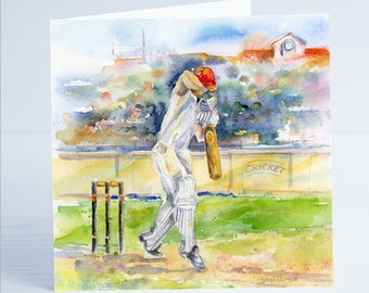 Cricket Greeting - Taken from an original watercolour.
