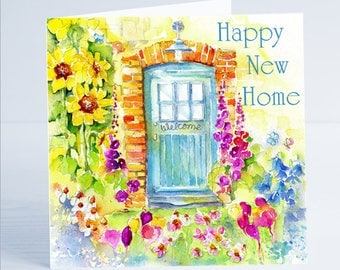 Happy New Home Greeting Card - From an Original Watercolour Painting by Sheila Gill