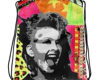 I Love The 80's! Drawstring bag