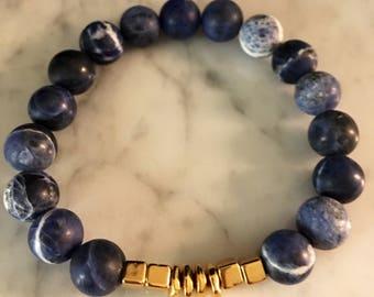 Gemstone Bracelet, Beaded Bracelet, Stretch Bracelet