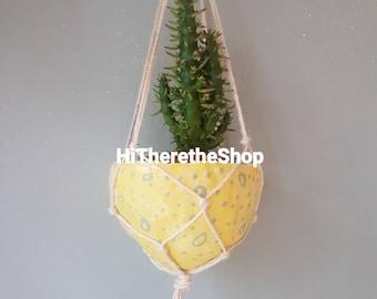 The Spotty Dotty Collection - Ceramic, hanging planter, succulent pot, cactus pot, plant pot, home studio pottery, home decor, pinch pot.