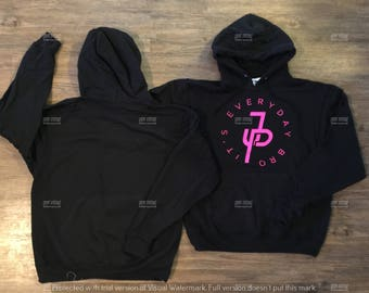 Black Jake Paul Hoodie Its Everyday bro hoodie Team 10