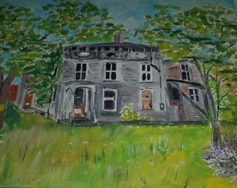 Mystery House Depauvelle N.Y. Painting