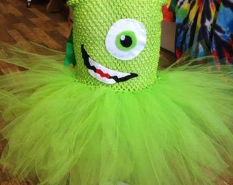 Green one eyed monster tutu dress for girls - tutu dress - girls tutu