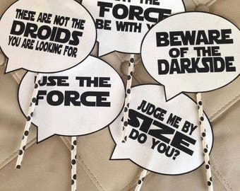 Star Wars Quote Cupcake Toppers