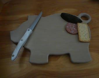 Large pig corian cutting board