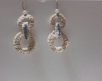 Earrings Cotton Pendants All crochet