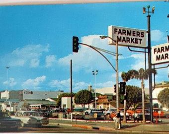 World Famous Farmers Market Vintage Postcard