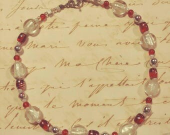 Red and White Choker