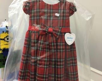 Tartan dress 18-24 months