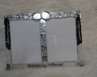 "double wedding photo frame  4"" by 6"""