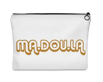 Madoula Brown Carry All Pouch  Flat