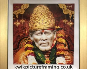 Sai Baba Of Shirdi Sainath Picture Frames In Size 10″ x 10″ inches - Saints Of India - God Photo Frames