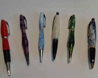 Birthday Birthstone color pens, January to June