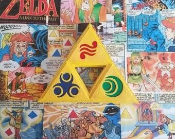 Legend of Zelda Triforce Collage on Wood
