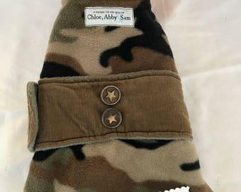 Fleece Camo dog coat